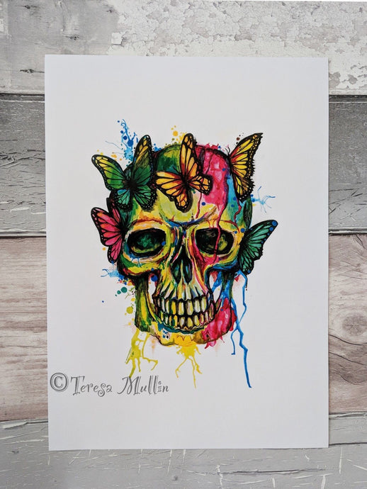 Signed Skull/Butterfly Artwork