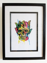 Load image into Gallery viewer, Signed Skull/Butterfly Artwork
