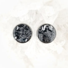 Load image into Gallery viewer, Black and Silver Studs, 14mm