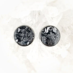 Black and Silver Studs, 14mm