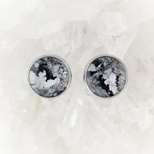 Load image into Gallery viewer, Black and Silver Studs, 12mm