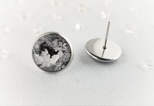 Black and Silver Studs, 12mm