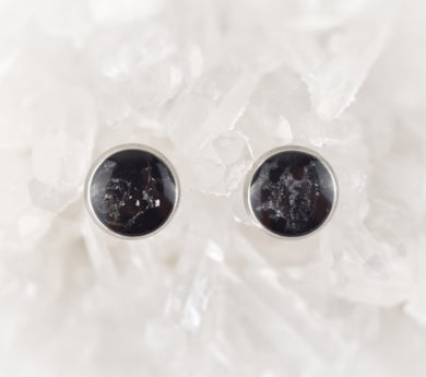 Black with Silver Studs, 8mm