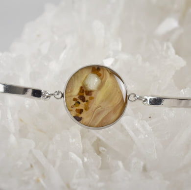 Tan Bracelet with Rhodizite and Tiger Eye