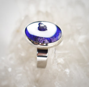 Purple Ring with Amethyst