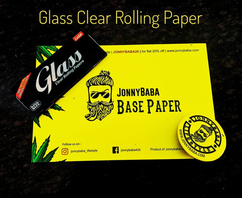 Buy Glass Transparent Rolling Papers Online at Jonnybaba lifestyle