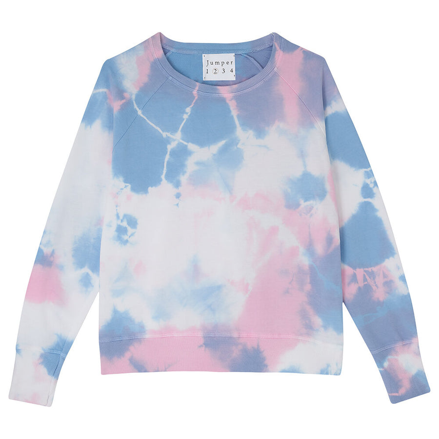 2 Colour Tie Dye Sweat- Blossom and Sky