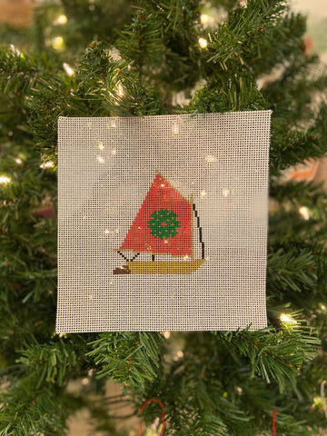 Red Sail Rainbow Ornament