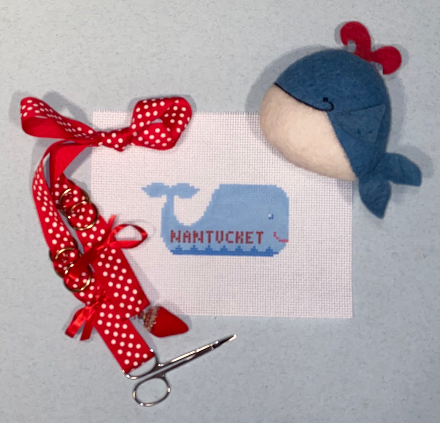 Nantucket Whale Ornament