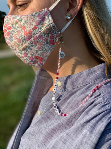 Stay Safe Nantucket Mask Chain
