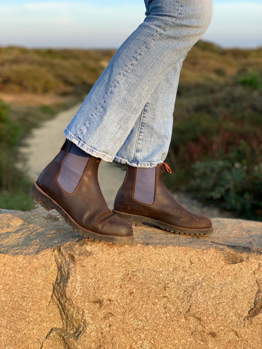 Nelson Boot Brown/Blue