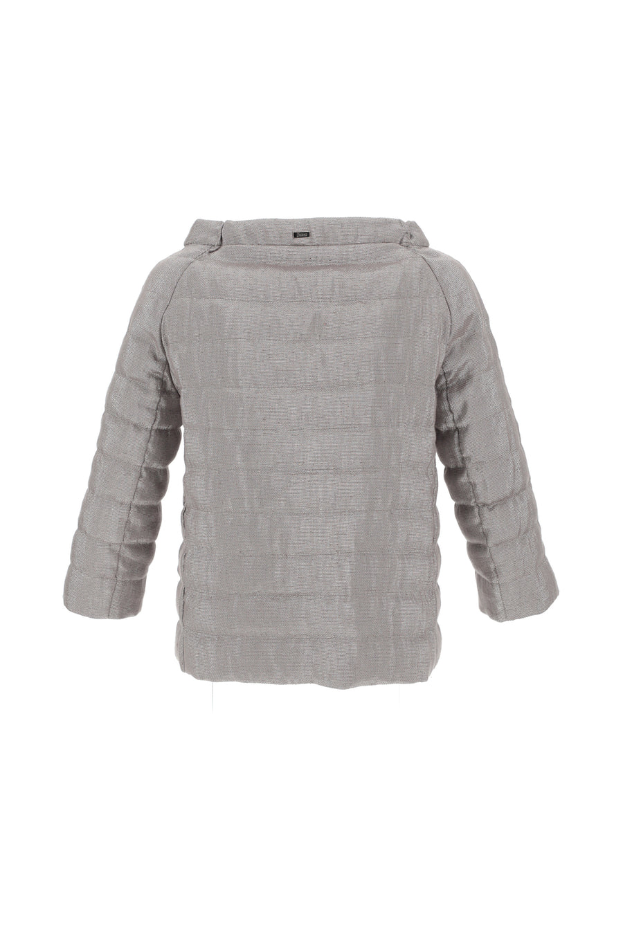 Lurex Linen 3/4 Sleeve Jacket - Silver
