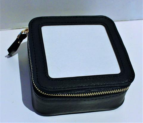 Square Leather Self Finishing Jewelry Case