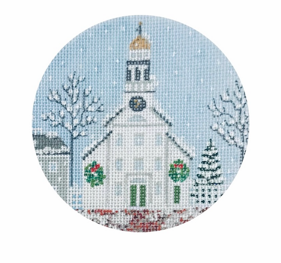 White Church & Steeple 4' Round