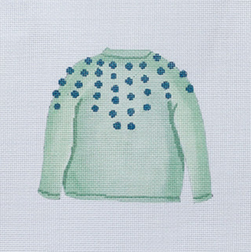Mint Pom Sweater