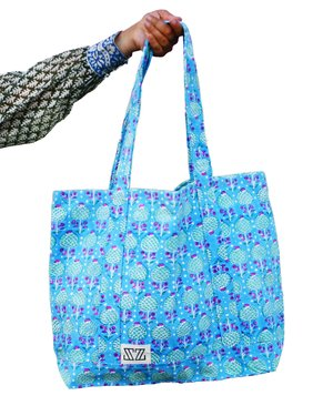 Tote Bag Pineapple Print