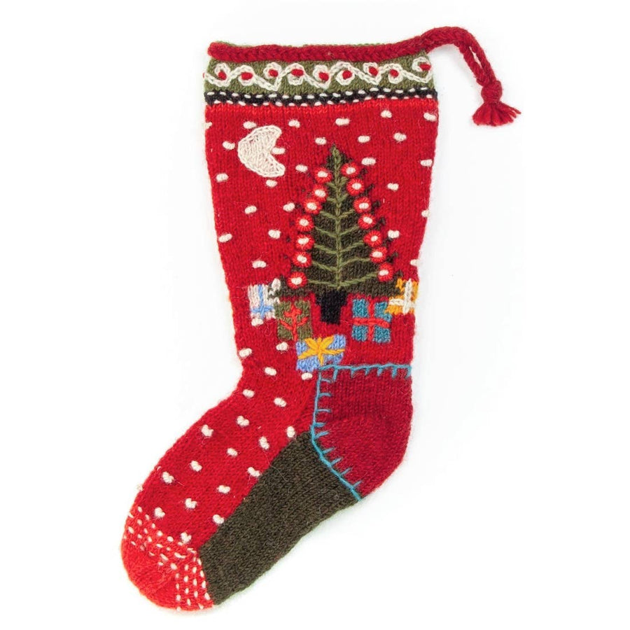 Presents Christmas Stocking - Red