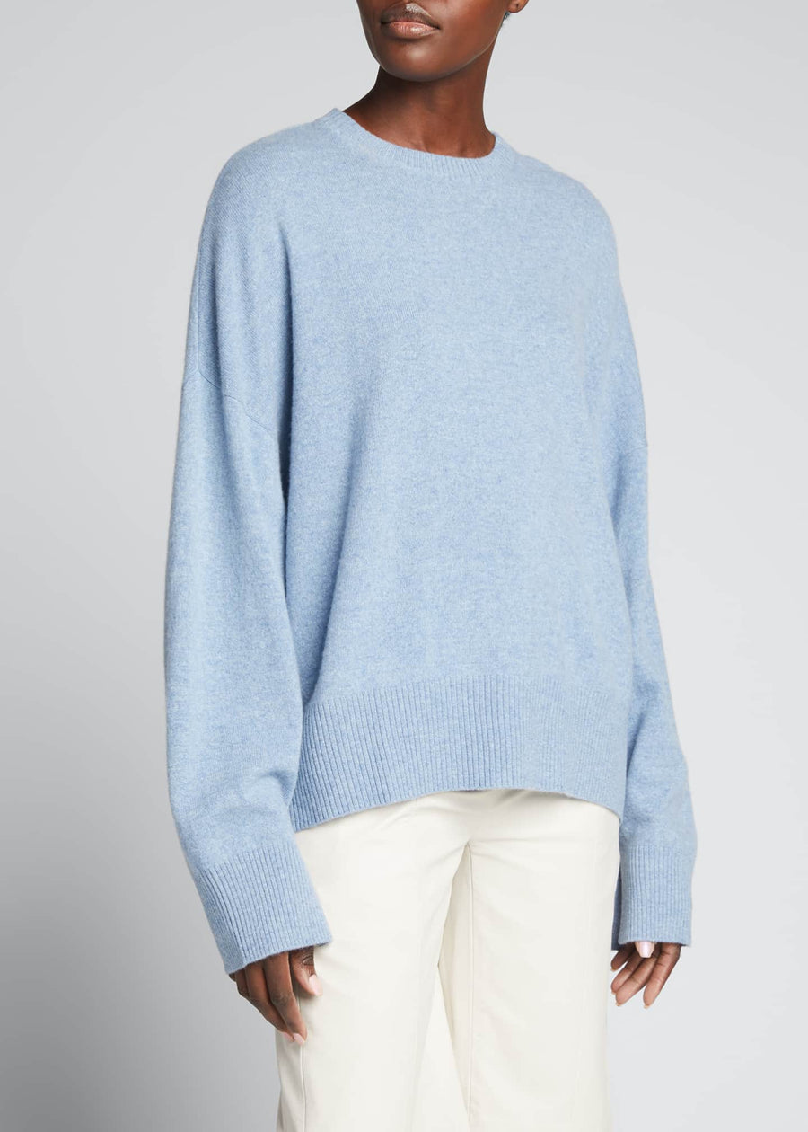 Cashmere Sweater- Blue Melange
