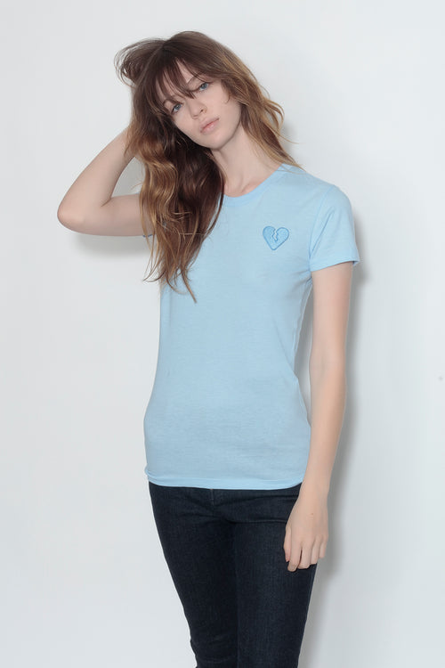 fitted short sleeve tee - sky blue