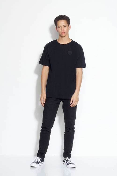 men's relax short sleeve tee - black
