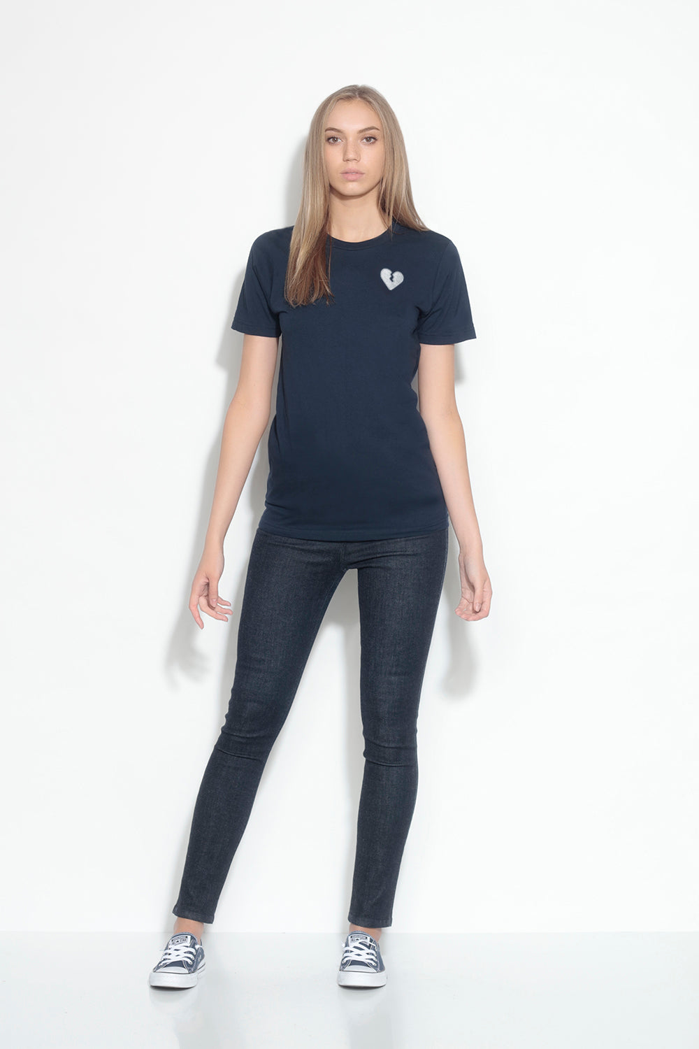 relax short sleeve tee - navy