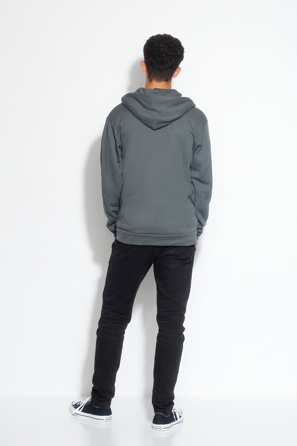 men's fleece zip hoodie - asphalt