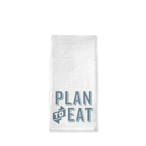 Plan to Eat Logo Tea Towel