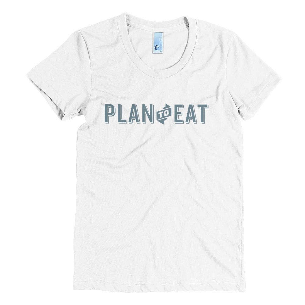 Plan to Eat Logo Women's Crew Neck Tee