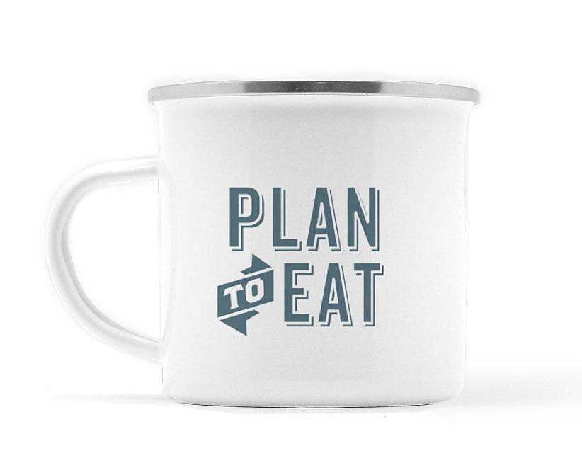 Plan to Eat Logo Camp Mug