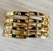 Load image into Gallery viewer, Boss Babe Gold Chunky Bangle Bracelet