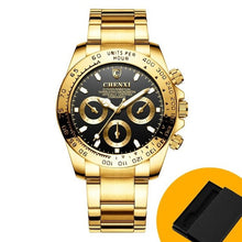 Load image into Gallery viewer, Gold SC Mens Golden Luxury Prestige Chronograph Watch