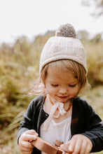 Load image into Gallery viewer, Sherpa Lined Pom Baby Bonnet - Blush