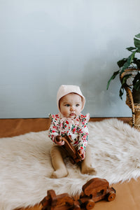 Blush Classic Baby Bonnet by Borne Bare at bornebarebaby.com