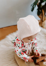 Load image into Gallery viewer, Blush Classic Baby Bonnet by Borne Bare at bornebarebaby.com