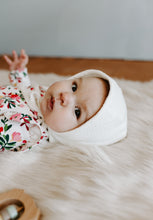 Load image into Gallery viewer, Ivory Classic Baby Bonnet by Borne Bare at bornebarebaby.com