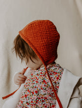 Load image into Gallery viewer, Rust Classic Bonnet by Borne Bare at bornebarebaby.com