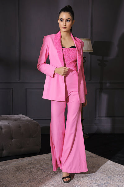 Bubblegum Pink Jumpsuit & Blazer Co-ord Set