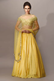 Yello Pastel Embellished Lehnga