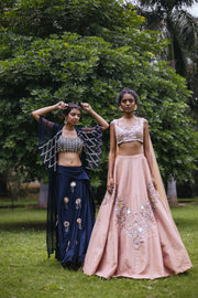 Champagne Gold Embellished Lehnga Set
