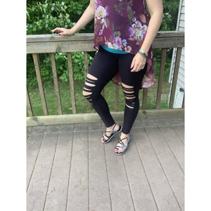 Uber Soft Distressed Leggings