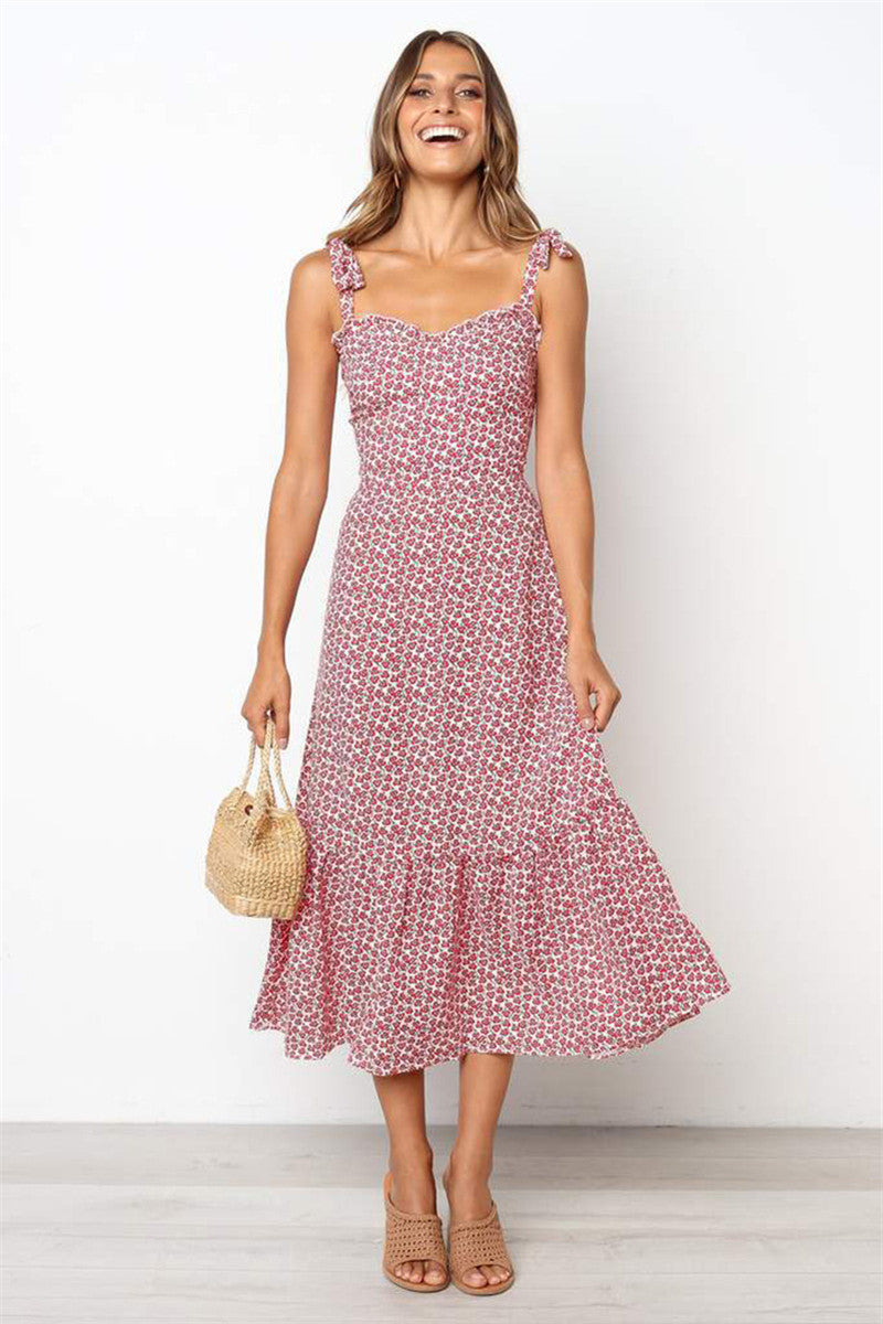 a30e95fc7b42 Hegaldress Casual Floral Print Midi Dress