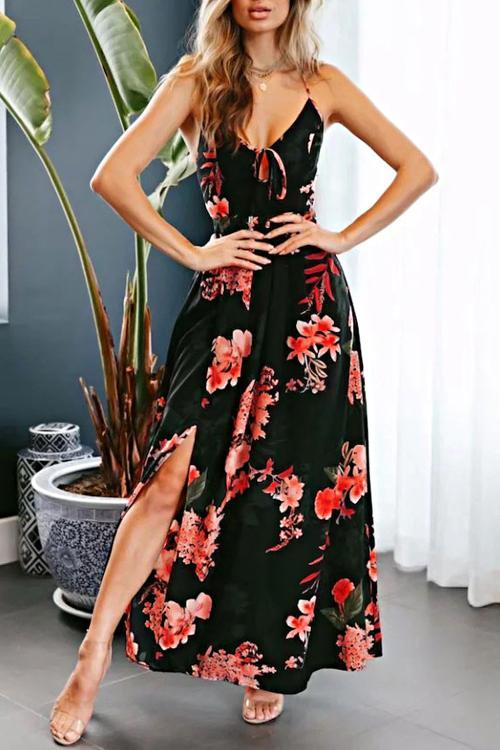 646b29bd4aae Hegaldress Running Me Dry Maxi Dress Black