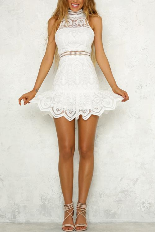 a39373d97ab2 Hegaldress Pick Up The Pieces White Lace Mini Dress