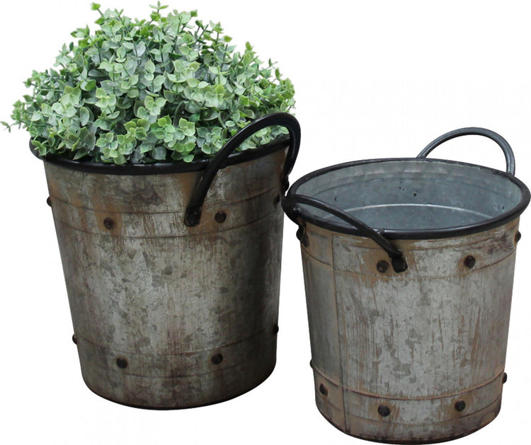 French Grey Planter Tubs