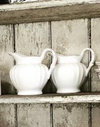 White Scallop Jug