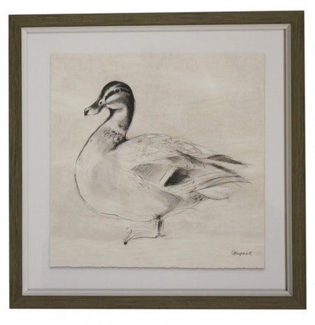Duck Drawing Print