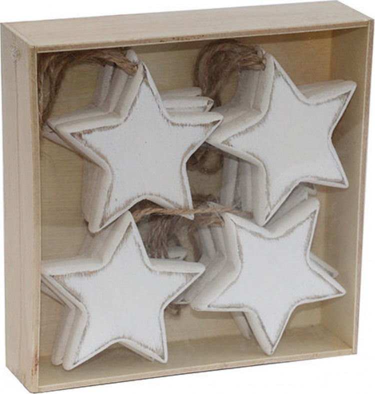 White Wooden Stars Box Set/12