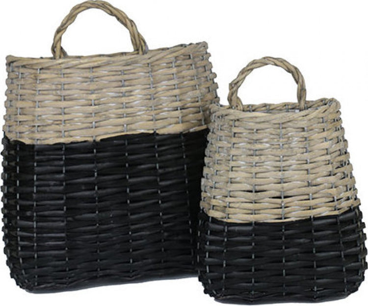 Wall Baskets Black Dip
