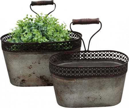 Rustic Wall Planter Tins