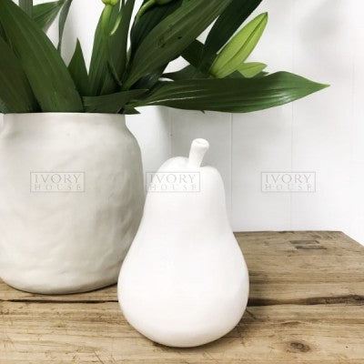 Ceramic White Pear